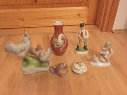 Herendi Zsolnay Wallendorfi porcelán kerámia 1ft NINCS MINIMÁL ÁR