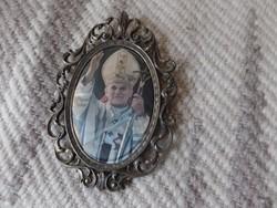 Réz keretben Szent II.János Pál