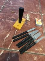 Retro Pillangó tartós késkészlet 6 darab, kések régi Német GDR-s