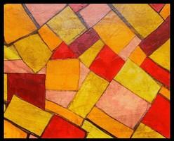 Négyszögek. Modern absztrakt festmény