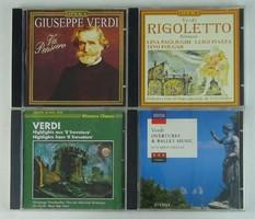 0T445 Giuseppe Verdi CD zene csomag 4 db