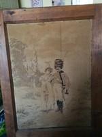Hatalmas méretű falikép Paul Grolleron : Magyar huszár