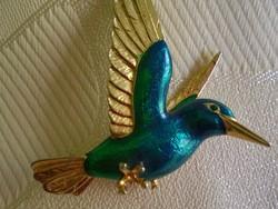 Kolibri madárka figurás bross