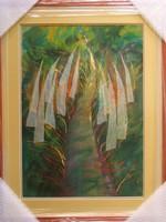 """Illényi Tamara """"Út"""" c. különleges selyemakvarell gyűjteményből eladó ingyen postázással eladó!"""