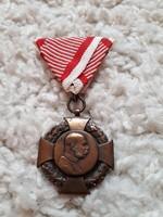 1908, FERENC JÓZSEF Katonai Jubileumi Kereszt kitüntetés