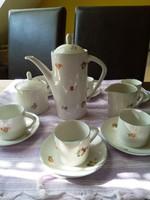 Hollóházi kávéskészlet 9 darabos