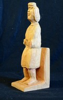 Fa szobor, torzó szobor, 33 cm magas