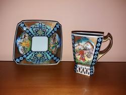 Makulátlan Herendi Perzsa mintás kávés csésze + alj