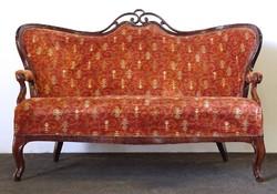 0T463 Antik neobarokk karfás kanapé 170 cm