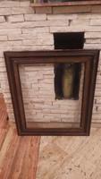 Üvegezett antik fa képkeret falc 69x56 cm