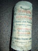Kwizda gyógypor doboza (mezőgazdasági régiség)
