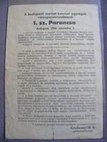 1956-os SZOVJET 1.sz. PARANCS - Eredeti!!!