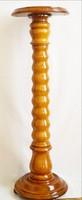 Szobortartó politúrozott tömör fa 108 cm