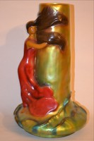 Zsolnay váza szecessziós stílus 46 cm