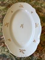 Antik szép nagy méretű aranyozott német kínáló tál tányér