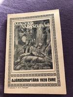 Magyar vadászújság ajándéknaptára 1928