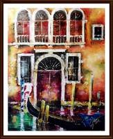 Velence varázsa ( 50 x 40 , olaj, festőkéses )