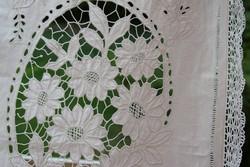 Szecessziós antik ritka riselt azsúros csipkés függöny vitrázs 3 db