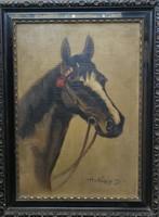 Lópotrté olaj festmény