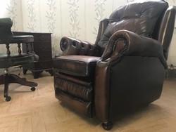 Chesterfield relax kényelmi fekvő fotel lábtartóval!