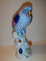 Herendi papagáj. 25 cm magas.