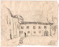 Borsos Miklós -19 x 23 cm grafit, papír rajza 1928-ból