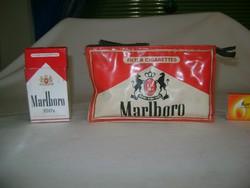 Retro Marlboro-s neszesszer és cigarettás doboz