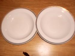 Aranycsíkos alföldi mély tányér 2 darab