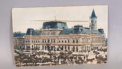 Régi Bajai kinyithatós képeslap, Főtér a Városházi Székházzal