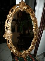 Teljesen fából faragott nagy méretű Florentin fali tükör