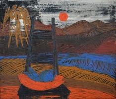 DRÉGELY LÁSZLÓ (1932 - 1990): Angyal a tóparton
