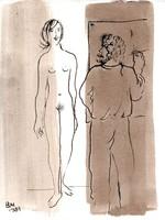 Borsos Miklós - 28 x 22 cm tus, papír