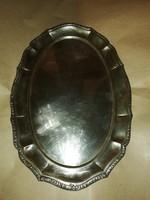 Antik ezüst barokk talca