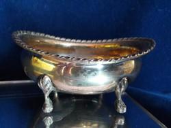 Gyönyörű ezüst 4 lábú cukortartó
