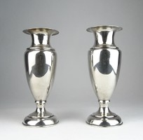 0T575 Antik jelzett ezüst váza pár 265 g