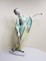 RITKASÁG!!! Herendi ritkább típusú gésa figura 28 cm MAKULÁTLAN!!!