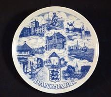 Danmark porcelán dísztányér