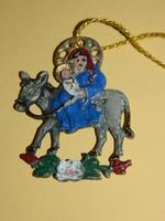 Régi ólom Betlehemes karácsonyfadísz.