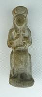 0T520 Egyiptomi cserép fáraó szobor LUXOR