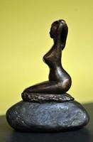 Bronze szobor.. Sziren