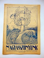 1928 január  /  NAGYASSZONYUNK  /  RÉGI EREDETI ÚJSÁG Ssz.: 487