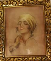 Frivol hölgy portréja