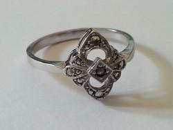 Markazit köves ezüst gyűrű magyar FŐÉ jelzéssel