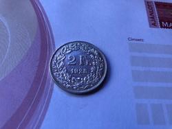 1928 ezüst 2 frank 10 gramm 0,835