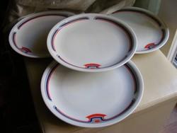 4 db art deco mintás alföldi lapos tányér