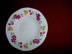 Zsolnay  tányér lepke-virág  mintával