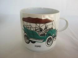 Alföldi porcelán autós bögre