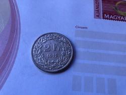 1912 ezüst 2 frank 10 gramm 0,835 Ritka