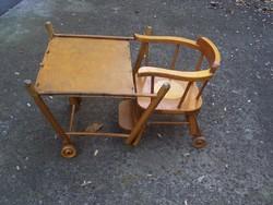 Antik-praktikum 3in1 gyerek íróasztal,etetőszék és