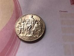 1913 ezüst 2 márka ezüst 100 ik évforduló Napóleon legyőzése Ritka, szép érme 11 gramm